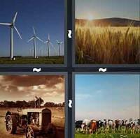 4 Pics 1 Word Levels Farm