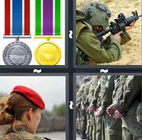 4 Pics 1 Word Military