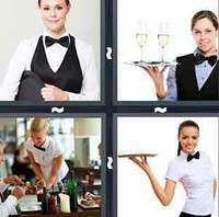 4 Pics 1 Word Waitress