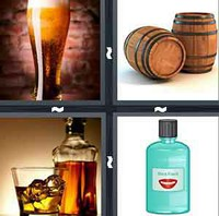 4 Pics 1 Word Alcohol