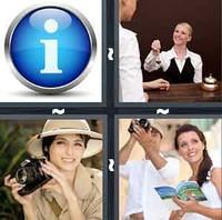 4 Pics 1 Word Tourist