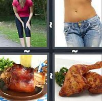 4 Pics 1 Word Thigh