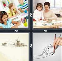 4 Pics 1 Word Drawing