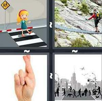 4 Pics 1 Word Levels Crossing
