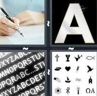 4 Pics 1 Word Levels Font