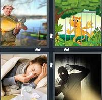 4 Pics 1 Word Caught