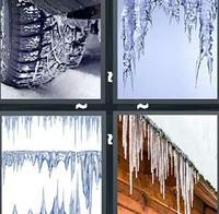 4 Pics 1 Word Icicle