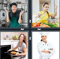 4 Pics 1 Word Levels Cook