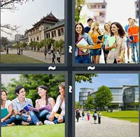 4 Pics 1 Word Campus