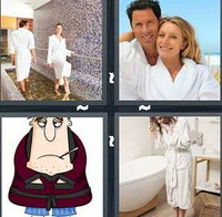 4 Pics 1 Word Bathrobes