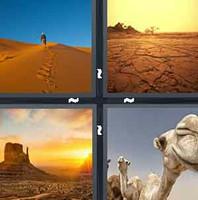 4 Pics 1 Word Desert
