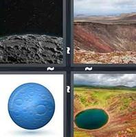 4 Pics 1 Word Crater