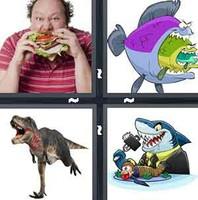 4 Pics 1 Word Devour