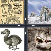 4 Pics 1 Word Exctinct