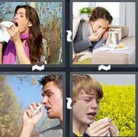 4 Pics 1 Word Sneeze