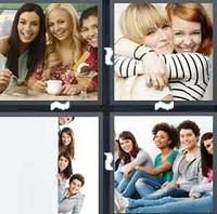 4 Pics 1 Word Levels Friends