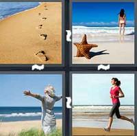 4 Pics 1 Word Seashore