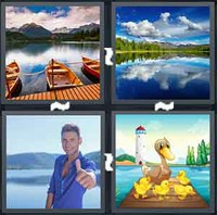 4 Pics 1 Word Lake