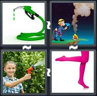 4 Pics 1 Word Hose