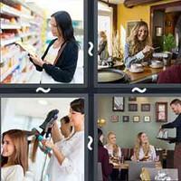 4 Pics 1 Word Customer