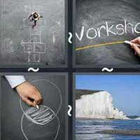 4 Pics 1 Word Levels Chalk