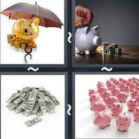 4 Pics 1 Word Levels Savings
