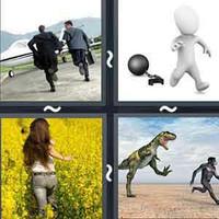 4 Pics 1 Word Flee