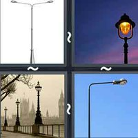 4 Pics 1 Word Lamppost