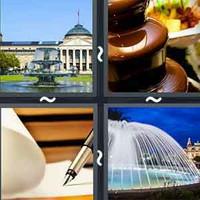 4 Pics 1 Word Fountain
