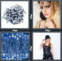 4 Pics 1 Word Levels Sequins