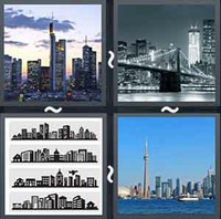 4 Pics 1 Word Levels Skyline