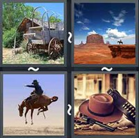 4 Pics 1 Word Levels Western