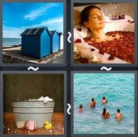 4 Pics 1 Word Levels Bathe