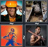4 Pics 1 Word Levels Miner