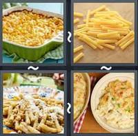4 Pics 1 Word Macaroni