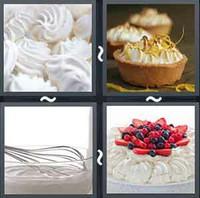 4 Pics 1 Word Meringue