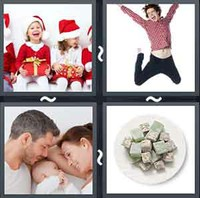 4 Pics 1 Word Delighted