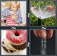 4 Pics 1 Word Sprinkle