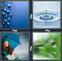 4 Pics 1 Word Raindrop