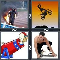 4 Pics 1 Word Stuntman