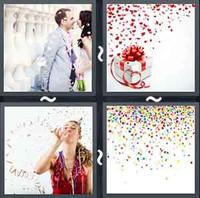 4 Pics 1 Word Confetti