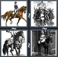 4 Pics 1 Word Horseman
