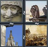 4 Pics 1 Word Gargoyle