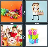 4 Pics 1 Word Birthday