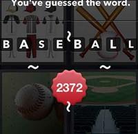 4 Pics 1 Word Baseball