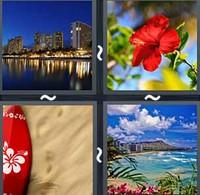 4 Pics 1 Word Honolulu