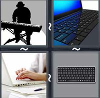 4 Pics 1 Word Keyboard
