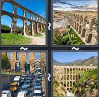 4 Pics 1 Word Aqueduct