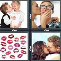 4 Pics 1 Word Levels Kiss