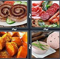 4 Pics 1 Word Levels Sausage
